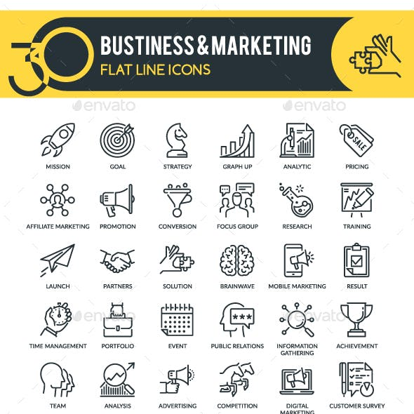 Business & Marketing Outline Icons