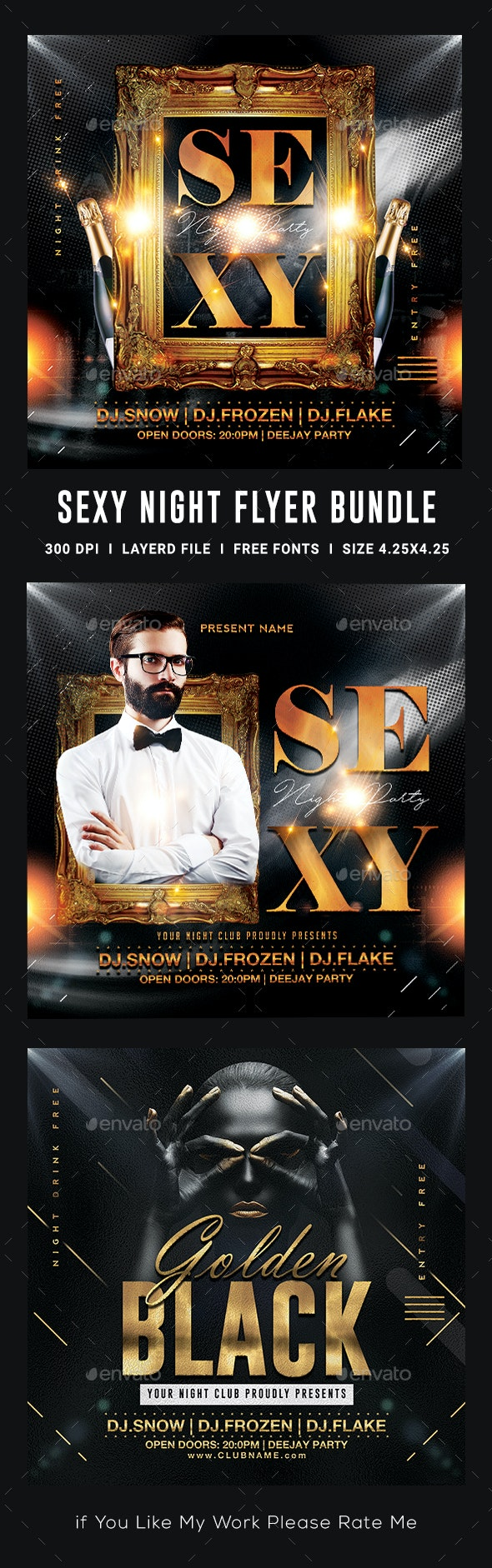 Sexy Night Flyer Template Bundle - Clubs & Parties Events