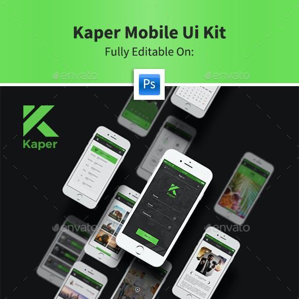 Kaper Mobile Ui Kit