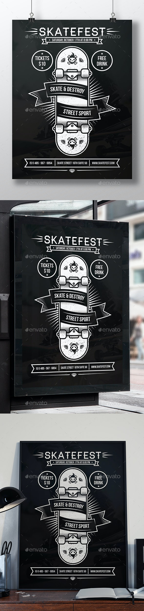 Skate Event Flyer Template - Sports Events