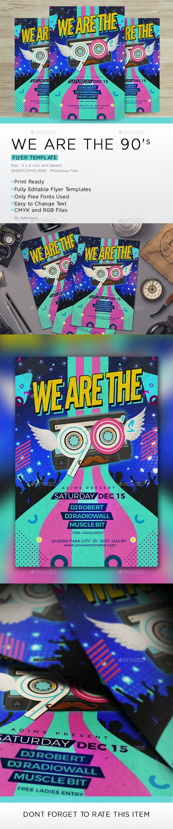 We Are The 90's Flyer - Events Flyers