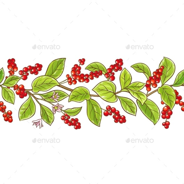 Schisandra Branch Vector Pattern - Food Objects