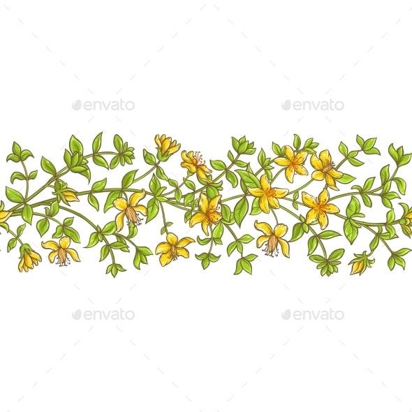 Tutsan Branch Vector Pattern - Health/Medicine Conceptual