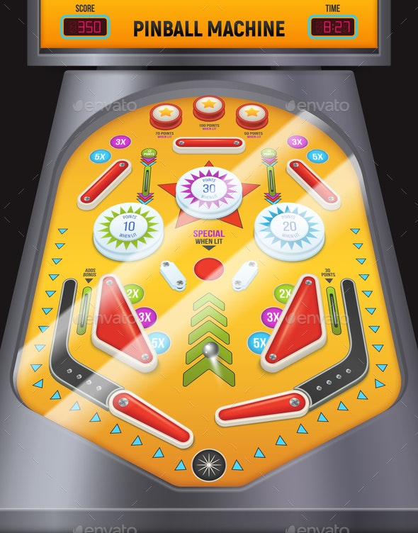 Pinball Machine Composition - Miscellaneous Vectors