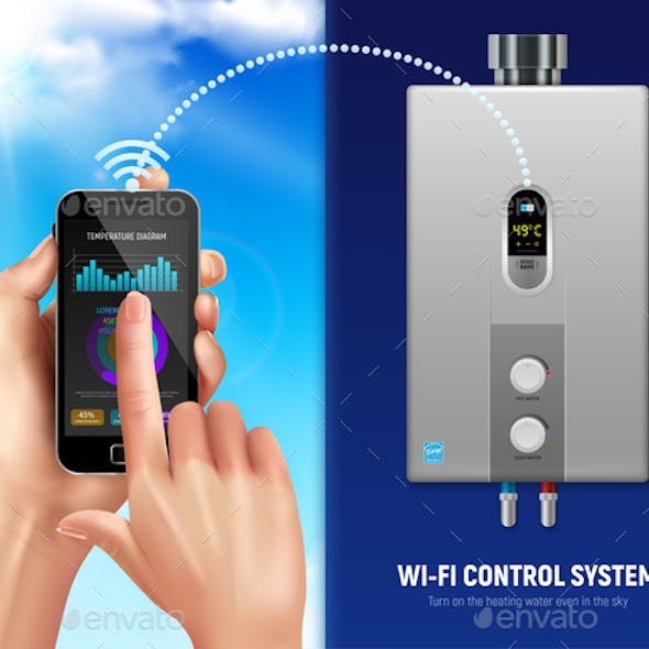 Realistic Water Heater Smart Banner