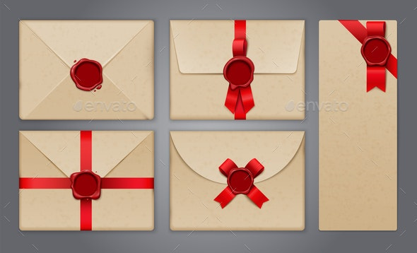 Wafer Envelopes Postcard Collection - Miscellaneous Vectors