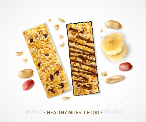 Healthy Cereal Bars Background - Food Objects