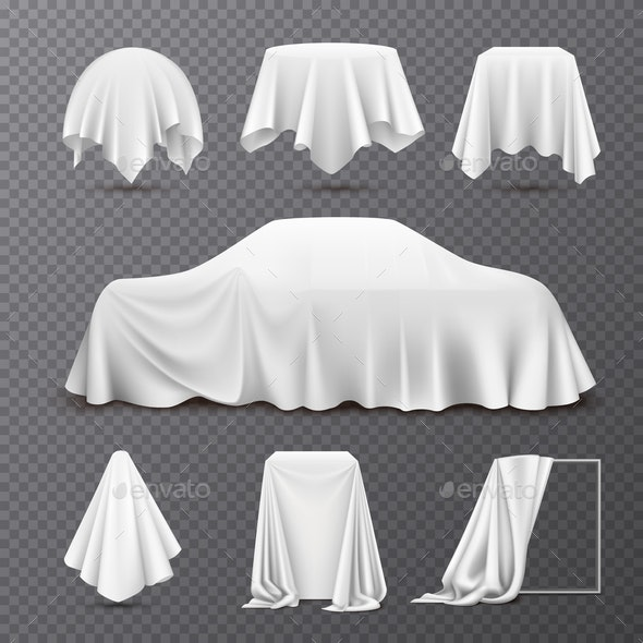 Cloth Covered Objects Transparent Set - Backgrounds Decorative