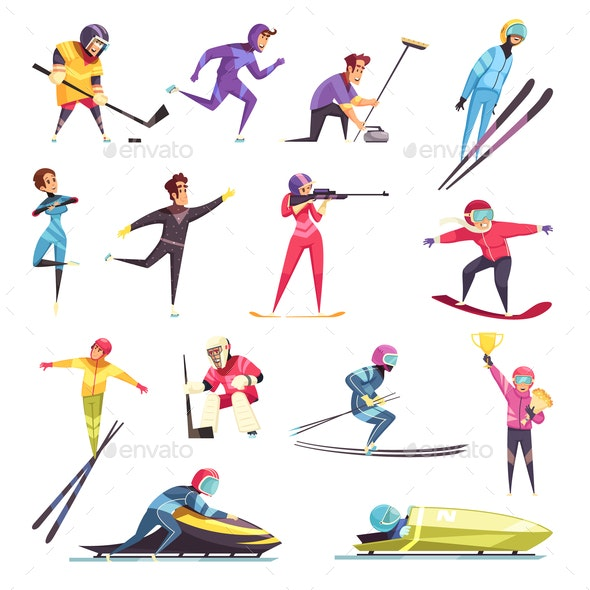 Winter Sports Set - Sports/Activity Conceptual