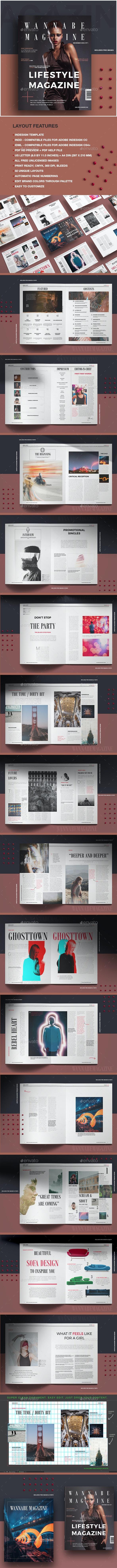 Wannabe Magazine - Magazines Print Templates