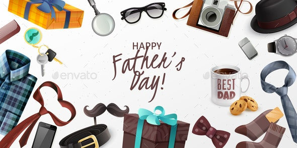 Fathers Day Horizontal Banner - Miscellaneous Seasons/Holidays