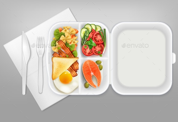 Disposable Tableware Food Realistic - Food Objects