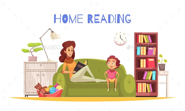 Home Reading Background - Miscellaneous Vectors