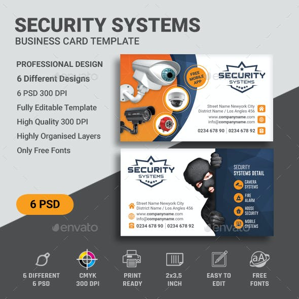 Security Business Card Templates
