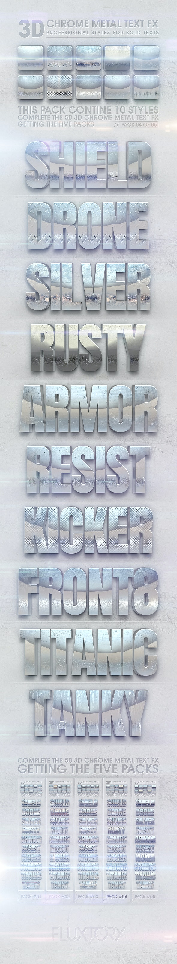 3D Chrome Metal Text FX 04 of 05 - Text Effects Styles