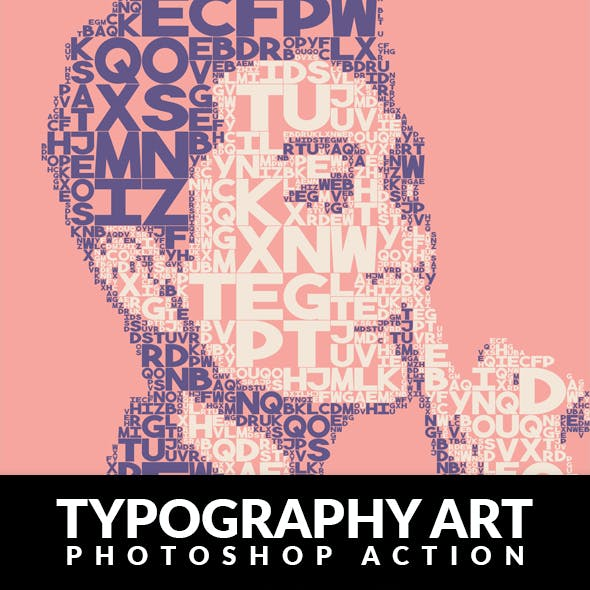 Typography Art Photoshop Action