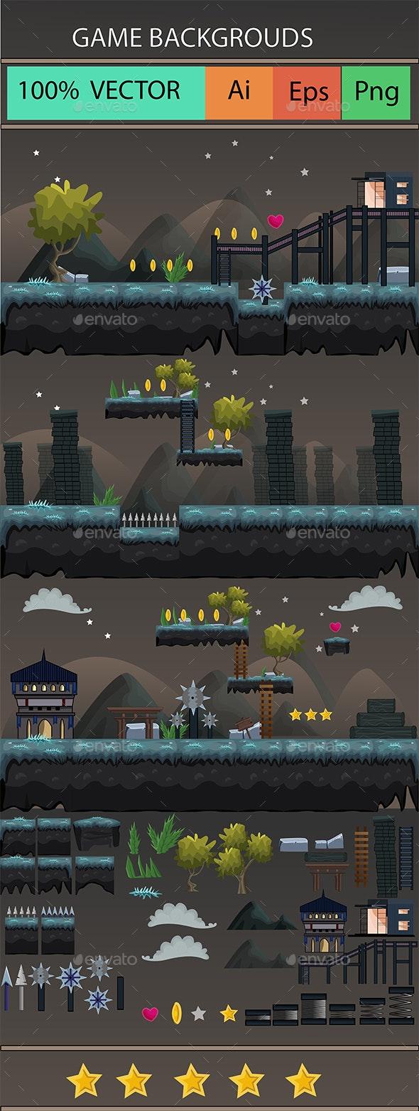 2D Platform Game - Tilesets Game Assets