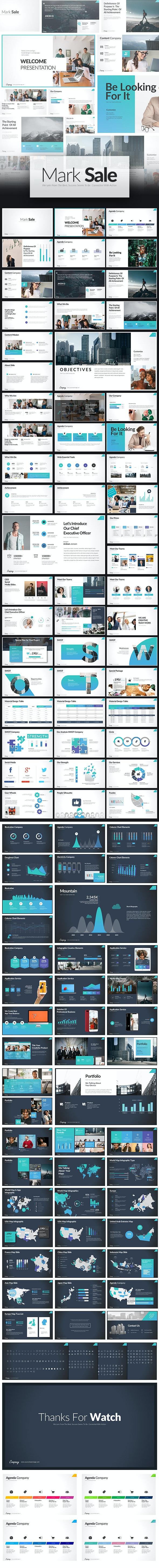 Mark Sale PowerPoint Presentation - Creative PowerPoint Templates