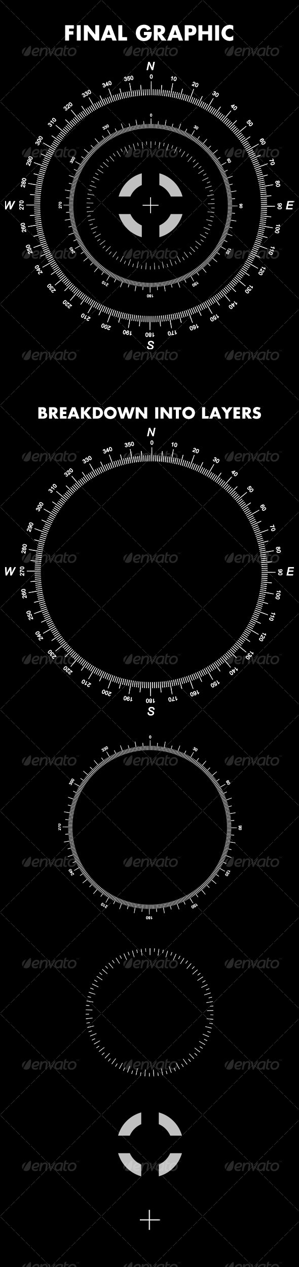 Detailed Hi Tech Compass - Layered - Tech / Futuristic Backgrounds