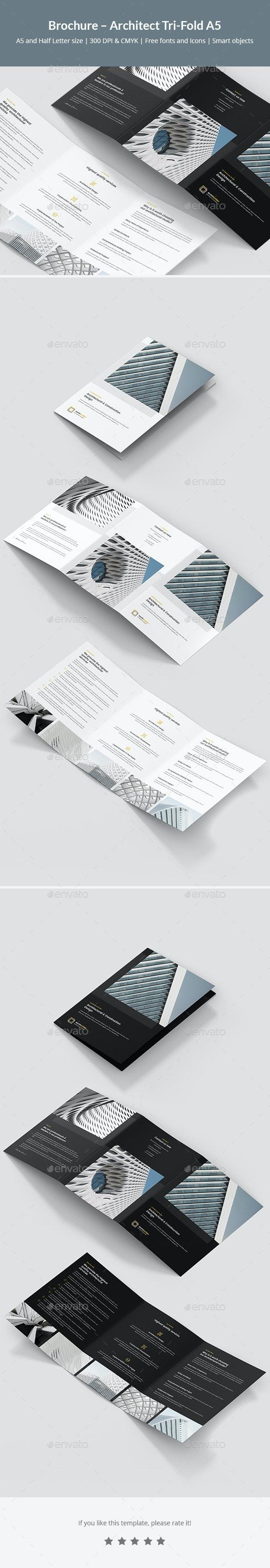 Brochure – Architect Tri-Fold A5 - Corporate Brochures