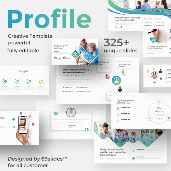 Brand Profile Pitch Deck Powerpoint Templaet