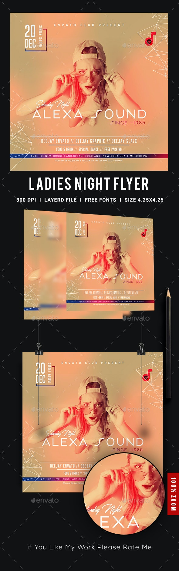 Ladies Night Club Flyer - Events Flyers