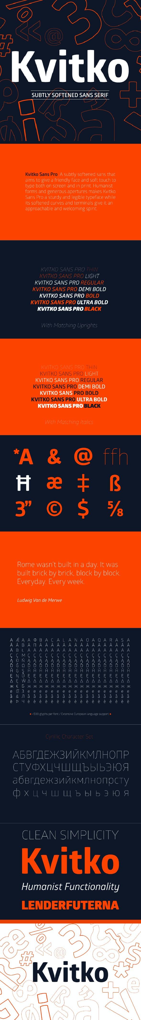 Kvitko Sans Pro Font - Miscellaneous Sans-Serif