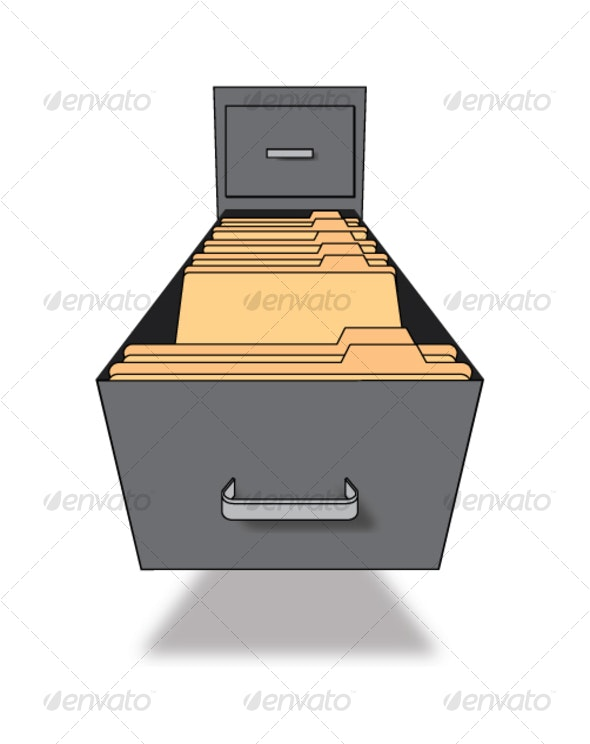 File Cabinet - Man-made Objects Objects