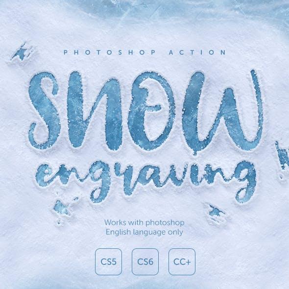 Snow Engraving Photoshop Action