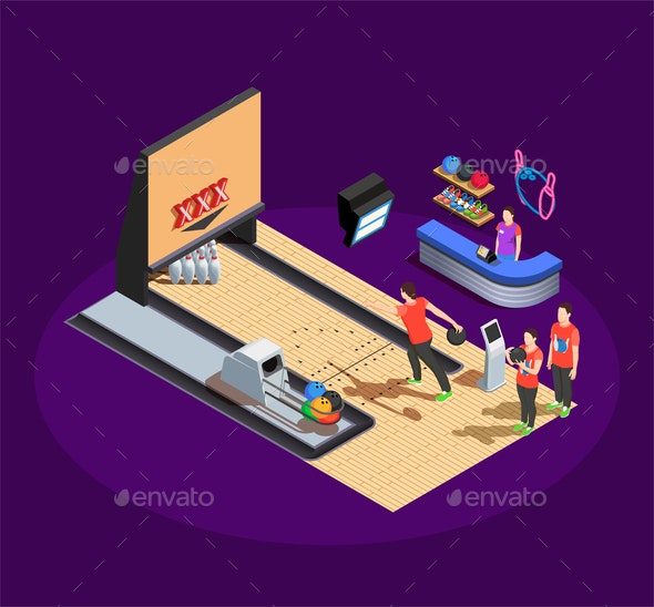 Bowling Isometric Composition - Sports/Activity Conceptual