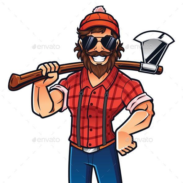 Lumberjack on White