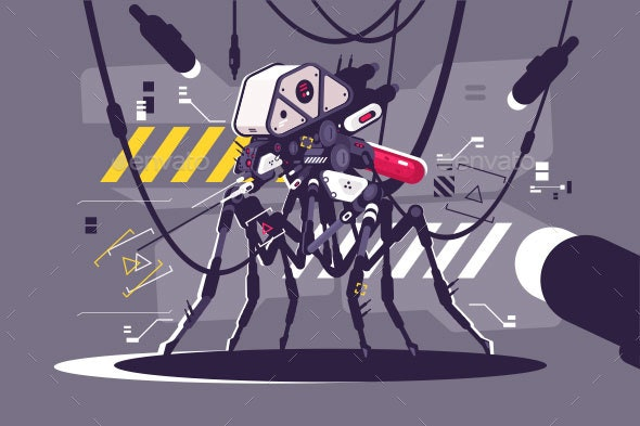 Cybernetic Robot Mosquito Drone - Computers Technology