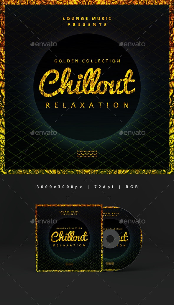 Golden Chillout - Music Cover Album Template