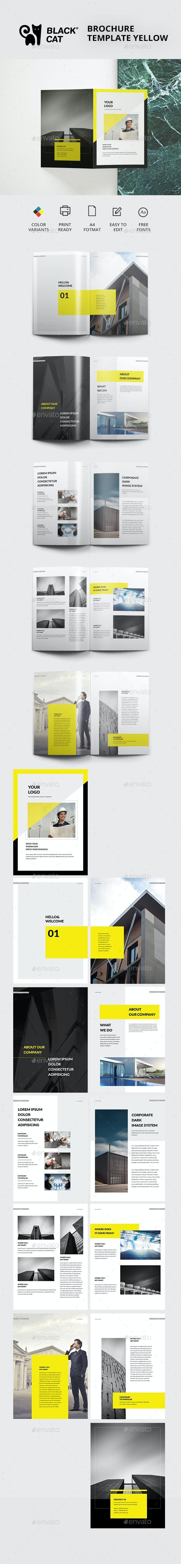 Brochure Template Yellow - Brochures Print Templates