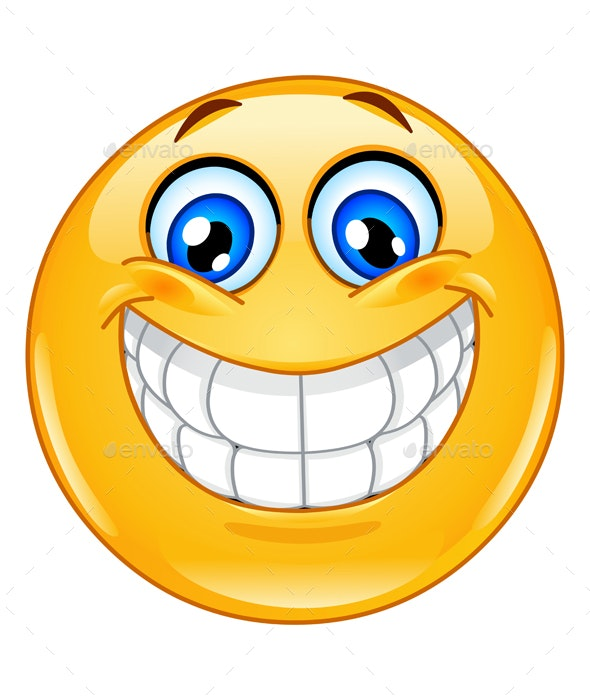 Big Smile Emoticon - People Characters