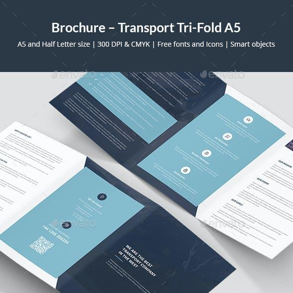 Brochure – Transport Tri-Fold A5