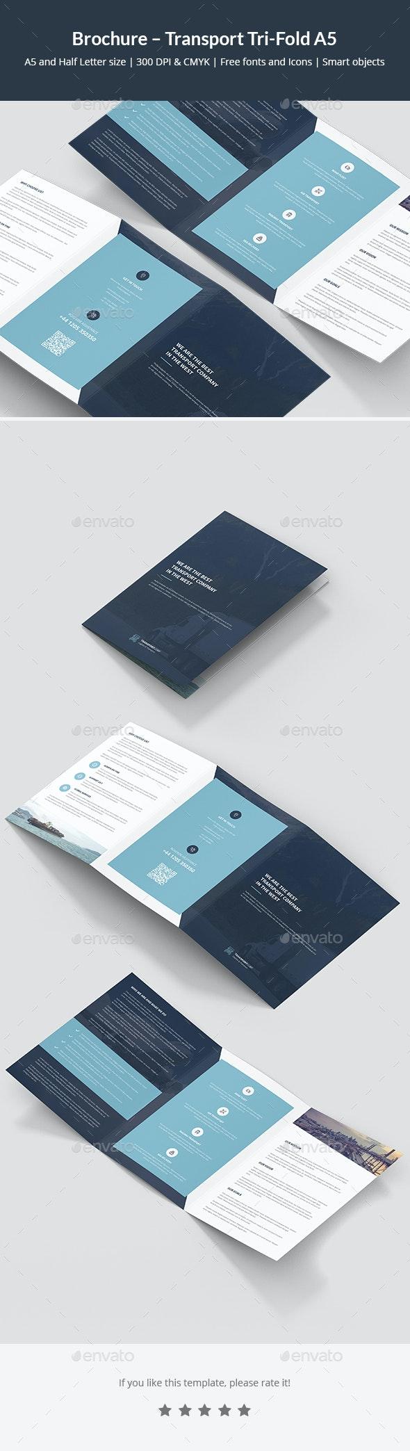 Brochure – Transport Tri-Fold A5 - Corporate Brochures
