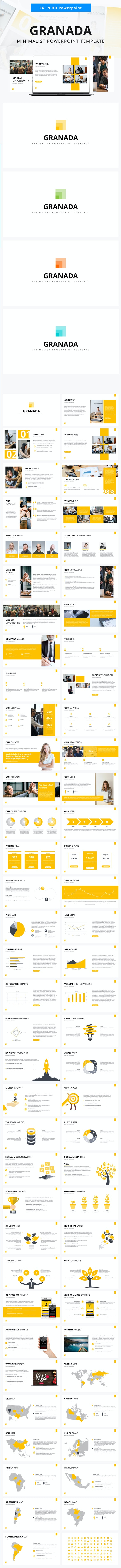 Granada Business Powerpoint Template - Business Keynote Templates