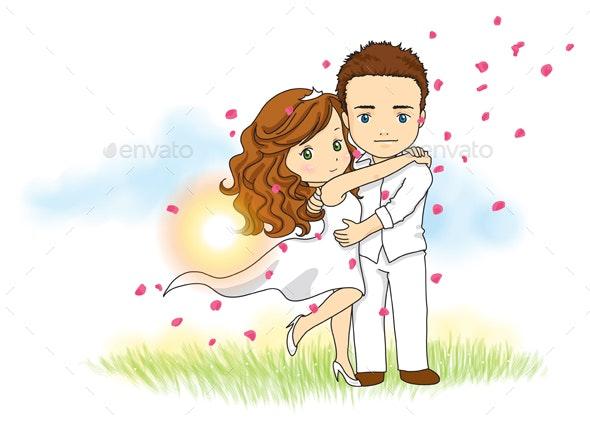 Wedding Couple - People Characters