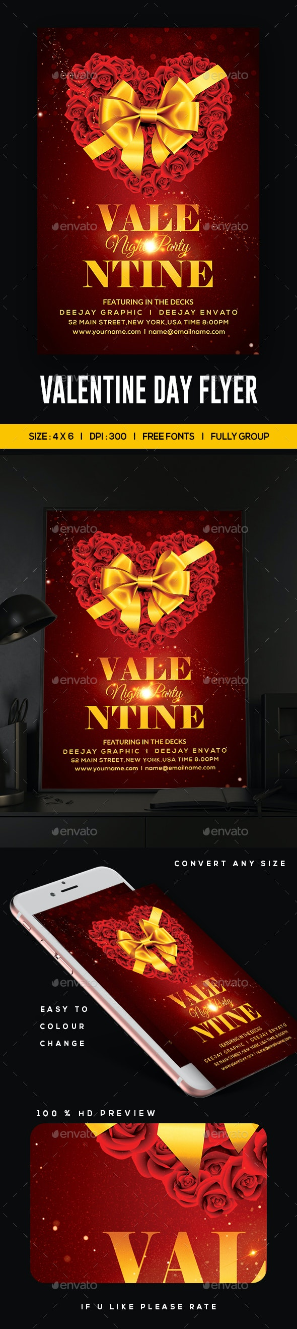 Happy Valentines Flyer - Clubs & Parties Events