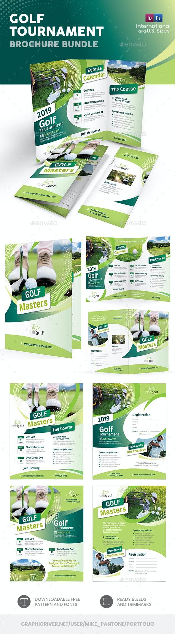 Golf Tournament 2019 Print Bundle - Informational Brochures