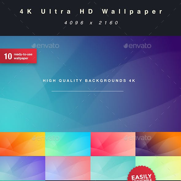 Clean 4K Ultra HD Wallpaper | 10pc