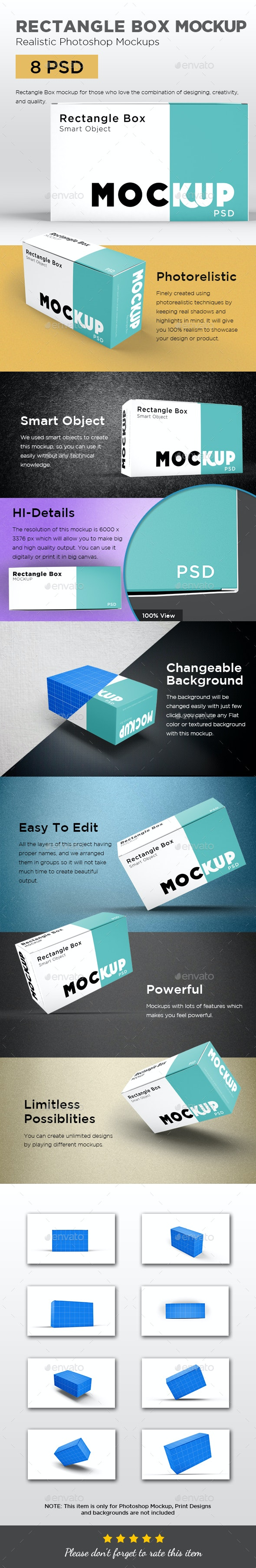 Rectangle Box Mockup - Packaging Product Mock-Ups