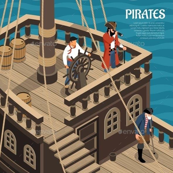 Pirates Isometric Illustration