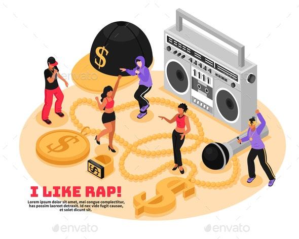 Rap Retro Design Concept - Miscellaneous Vectors