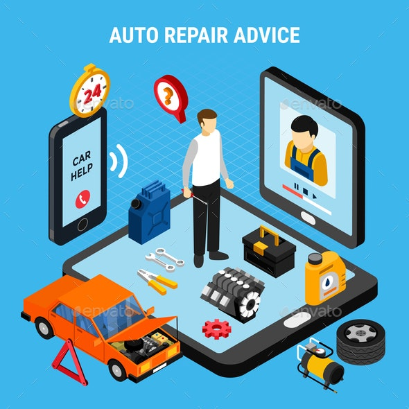 Auto Repair Advice Concept - Services Commercial / Shopping
