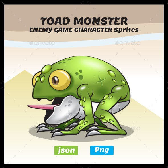 Monster Toad Sprites - Enemy Game Character