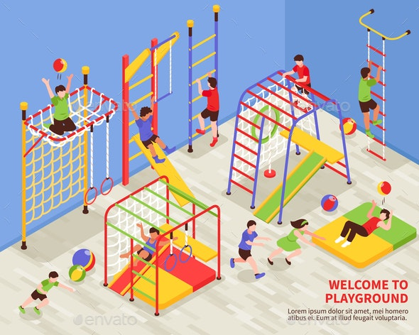 Kids Sports Playground Background - Sports/Activity Conceptual