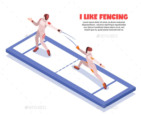 Isometric Noble Science Background - Sports/Activity Conceptual
