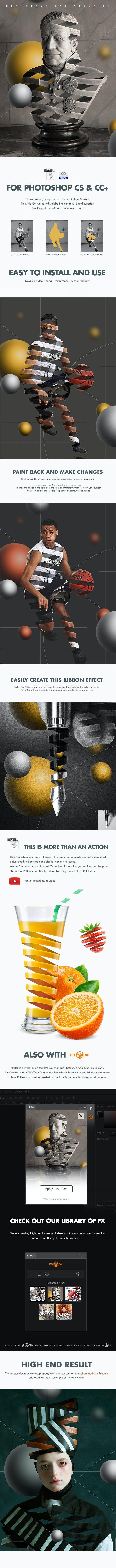 Escher Ribbon FX - Photoshop Add-On - Add-ons
